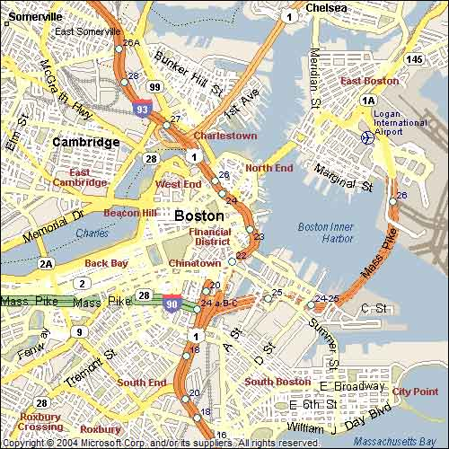 Map Of Boston Massachusetts Submited Images  Pic2Fly